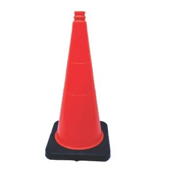 """UAT Non-reflective Traffic Cone, 28"""", 7 lb., Orange"""