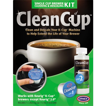 Urnex® CleanCup™ Single Cup Brewer Cleaning & Descaling Kit