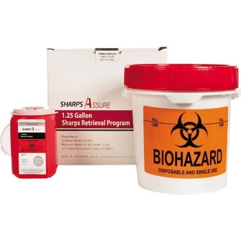Sharps Container with Mail-Back System, 1.25 gal. Box