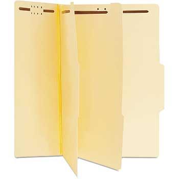 W.B. Mason Co. Manila Classification Folders, Letter, Six-Section, 15/BX