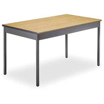"OFM™ Core Collection Multi-Purpose Utility Table, 30"" x 48"", Oak"