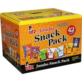 Chips and Cheese Curlz Jumbo Variety Mix, 1 oz. - 1.25 oz. Bags, 42/BX