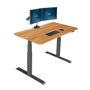 """Vari® Electric Standing Desk, 60"""" x 30"""", Butcher Block"""