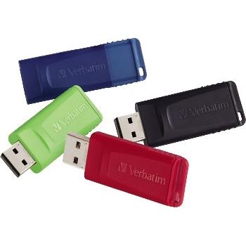 Store 'n' Go USB 2.0 Flash Drive, 16GB, 4/Pack