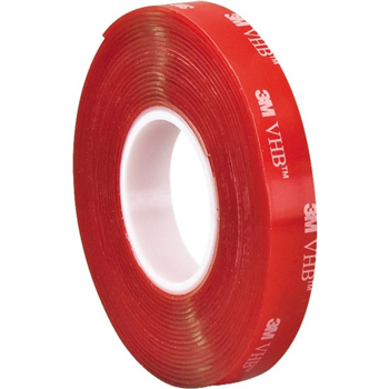 "3M™ VHB™ 4910 Tape, 40.0 Mil, 1/2"" x 5 yds, Clear, 1/CS"
