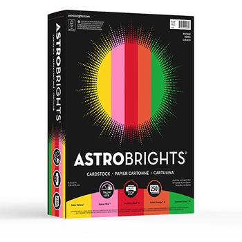"Colored Cardstock, 8 1/2"" x 11"", 24 lb./89 gsm., Vintage 5-Color Assortment, 250/PK"