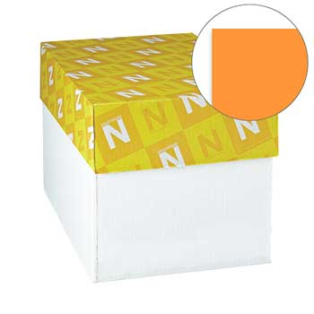 "Neenah Paper Exact Brights Paper, 8 1/2"" x 11"", Bright Orange, 20 lb./74 gsm., 5000/CT"