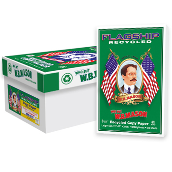 Flagship™ Recycled 100% Recycled Copy Paper, 92 Bright, 20 lb., 11 x 17, White, 2500/CT