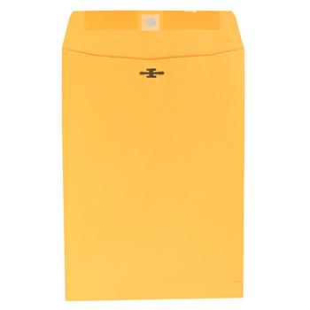 W.B. Mason Co. Kraft Clasp Envelope, Center Seam, 28lb, 7 1/2 x 10 1/2, Brown Kraft, 100/Box