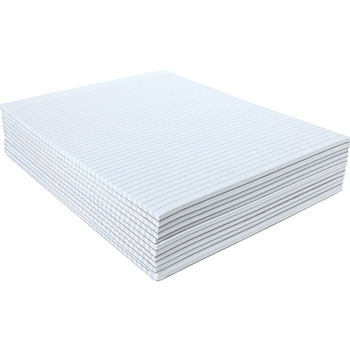 Glue Top Writing Pads, Narrow Rule, Letter, White, 50 Sheet Pads/Pack, Dozen