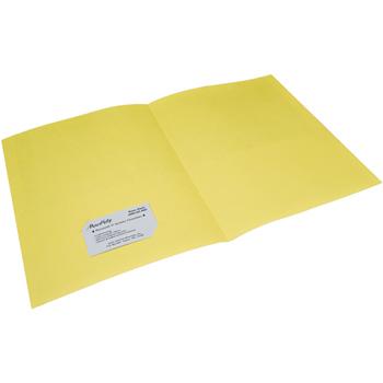 Two-Pocket Portfolios, Yellow, 25/BX