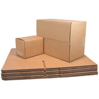 "Brown Corrugated Fixed Depth boxes, 14"" x 14"" x 6"", 25/BD"