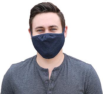 W.B. Mason Co. Multi-Layered, Cloth Face Masks, Navy, 5/PK