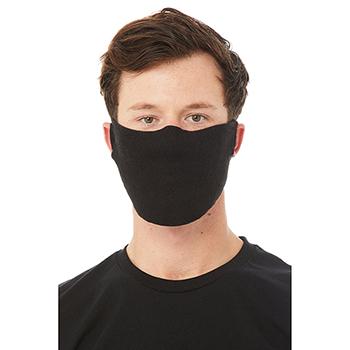 Contoured Fabric Face Mask, Black, 7oz