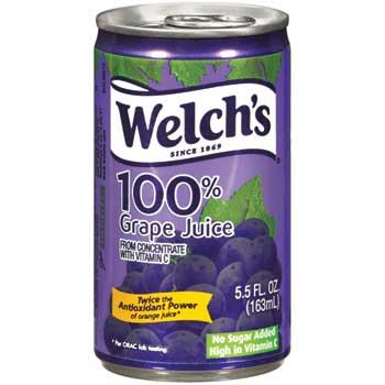 Welch's® 100% Grape Juice, 5.5 oz., 48/CS