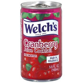 Welch's® Cranberry Juice Cocktail, 5.5 oz., 48/CS