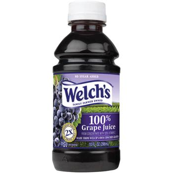 Welch's® 100% Grape Juice, 10 oz. Bottle, 24/CS