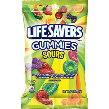 LifeSavers® Gummies, Sours Peg Bag, 7 oz., 12/CS