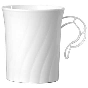 Classicware® Coffee Mug, 8 oz., White, 192/CT