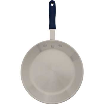 """Winco® 12"""" Induction Ready Alu & S/S Fry Pan w/Sleeve, Natural Finish"""