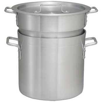 12 Quart Aluminum Double Boiler with Cover