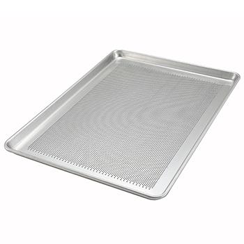 """Winco® 18"""" x 26"""" Aluminum Sheet Pan, Perforated, 18 Gauge"""