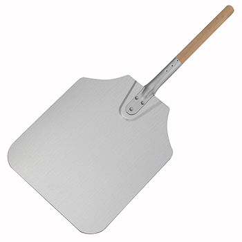 "Winco® 26"" Alu Pizza Peel, 12"" x 14"" Blade"