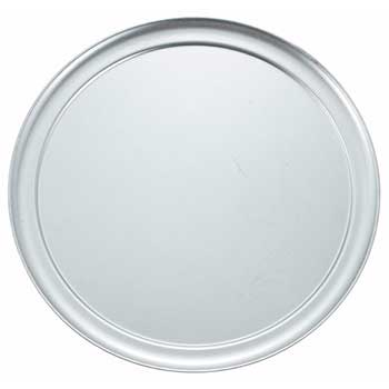 """Winco® 14"""" Wide Rim Pizza Tray, Alu"""