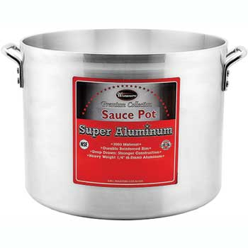 20 Quart Super Aluminum Sauce Pot, 6mm