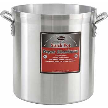 Winco® 32 Quart Super Aluminum Stock Pot, 6mm