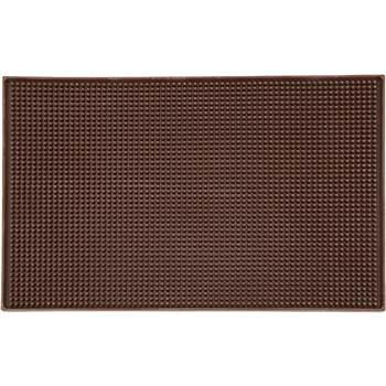 "Winco® Rubber Bar Service Mat, 18"" x 12"", Brown"
