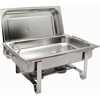 Get A Grip 8 Quart Stainless Steel Full size Chafer