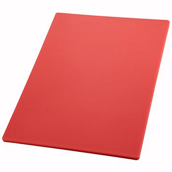"Winco® Cutting Board, 15"" x 20"" x 1/2"", Red"