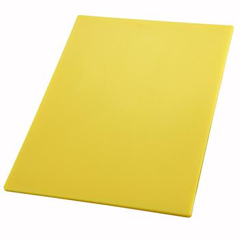 """Winco® Cutting Board, 18"""" x 24"""" x 1/2"""", Yellow"""