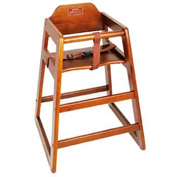 Winco® Walnut Wood High Chair, Assembled