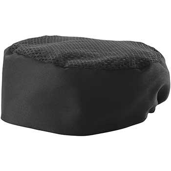 "Winco® Ventilated Pillbox Hat, 3.5"" H, Black, Regular"