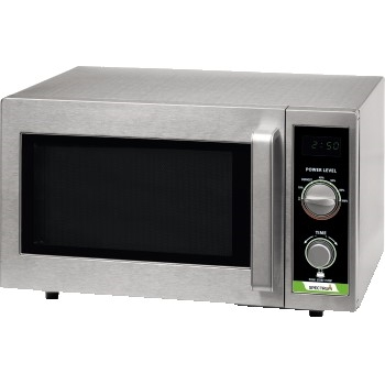 Winco® Spectrum Commercial Microwave, Dial, Stainless Steel, 1,000W