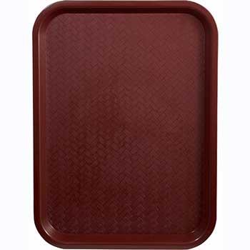 """Winco® Fast Food Tray, 14"""" x 18"""", Burgundy"""