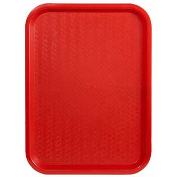 "Winco® Fast Food Tray, 14"" x 18"", Red"