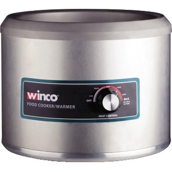 Winco® Electric 11 Quart Round Food Cooker/Warmer, 1250W