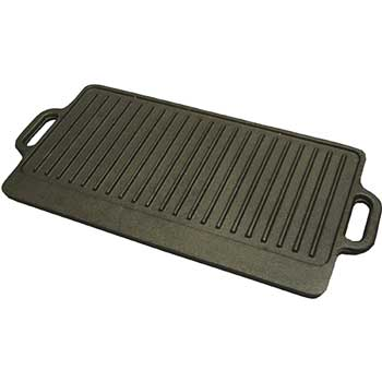 """Reversible Griddle/Grill, Cast Iron, 20"""" x 9.5"""""""