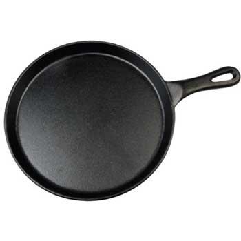 "Winco® Cast Iron Grill Pan, 10"" Dia."