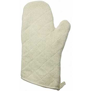"""13"""" Oven Mitt, Terry w/silicone Lining"""