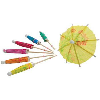 Winco® Umbrella Picks, 144/BG