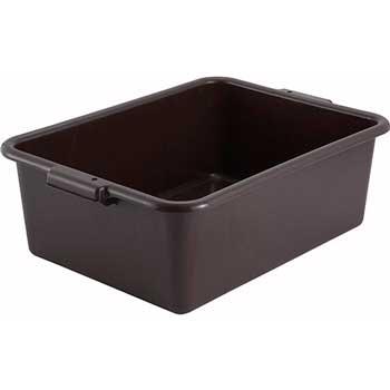 "Winco® 7"" Dish Box, Standard Weight, Brown"""