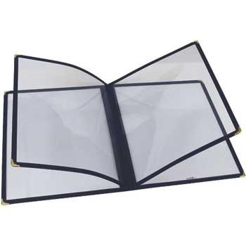 "Winco® Menu Cover, Double Fold, 9 3/8"" x 12 1/8"", Blue"