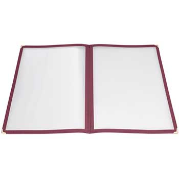 "Winco® Menu Cover, Double Fold, 9 3/8"" x 12 1/8"", Burgundy"