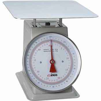 "Winco® 100-lb. Receiving Scale, 9"" Dial"