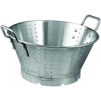 Winco® 16 Quart Colander with Handles and Base, Heavy-Duty, Stainless Steel