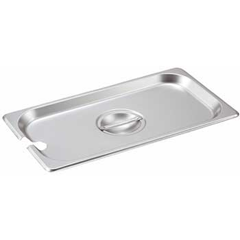 Winco® Stainless Steel Steam Pan Cover, 1/3 Size, Slotted